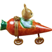 "Load image into Gallery viewer, Rochard ""Rabbit in Carrot Car"" Limoges Box"