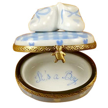 "Load image into Gallery viewer, Rochard ""Oval - It's a Boy with Shoes"" Limoges Box"
