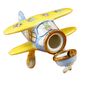 "Rochard ""Airplane Baby Décor"" Limoges Box"