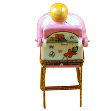 "Load image into Gallery viewer, Rochard ""Baby High Chair - Pink"" Limoges Box"