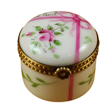 "Load image into Gallery viewer, Rochard ""Round Pink First Curl"" Limoges Box"