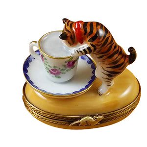 "Rochard ""Cat with Milk"" Limoges Box"