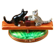 "Load image into Gallery viewer, Rochard ""See Saw Cats"" Limoges Box"
