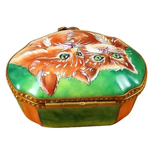 "Rochard ""Studio Collection Two Cats"" Limoges Box"
