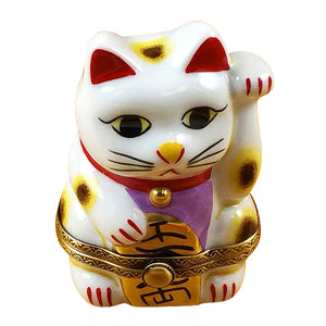 "Rochard ""Happy Cat"" Limoges Box"