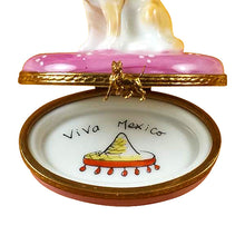 "Load image into Gallery viewer, Rochard ""Chihuahua on Pink Base"" Limoges Box"