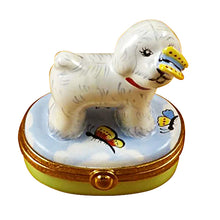 "Load image into Gallery viewer, Rochard ""Bichon Frise with Butterfly"" Limoges Box"
