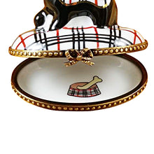 "Load image into Gallery viewer, Rochard ""Scottish Terrier - Burberry"" Limoges Box"