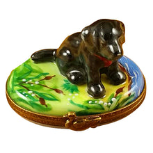 "Load image into Gallery viewer, Rochard ""Black Labrador"" Limoges Box"