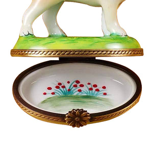 "Rochard ""Standing Blond Labrador"" Limoges Box"
