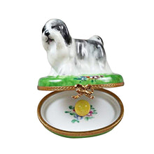 "Load image into Gallery viewer, Rochard ""Shih Tzu Grey"" Limoges Box"