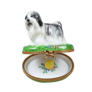 "Rochard ""Shih Tzu Grey"" Limoges Box"
