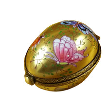 "Load image into Gallery viewer, Rochard ""Egg Décor Butterfly on Gold Base"" Limoges Box"