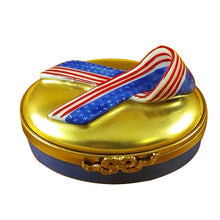 "Load image into Gallery viewer, Rochard ""Spirit of America Ribbon"" Limoges Box"