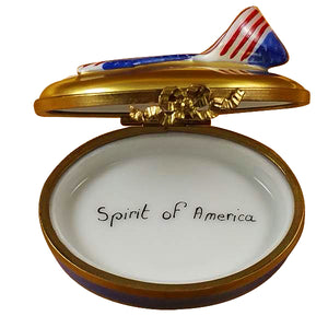 "Rochard ""Spirit of America Ribbon"" Limoges Box"