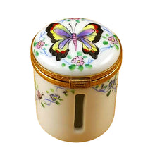 "Load image into Gallery viewer, Rochard ""Butterfly Stamp Holder"" Limoges Box"