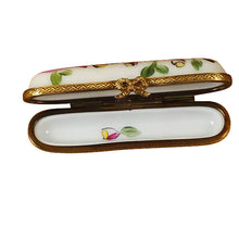 "Load image into Gallery viewer, Rochard ""Needle Box with Pink Ribbon"" Limoges Box"