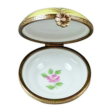"Load image into Gallery viewer, Rochard ""Yellow Round with Flowers"" Limoges Box"