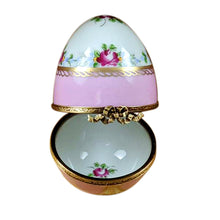 "Load image into Gallery viewer, Rochard ""Pink Egg with Flowers"" Limoges Box"