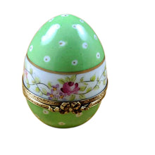 "Load image into Gallery viewer, Rochard ""Green Egg with Flowers"" Limoges Box"