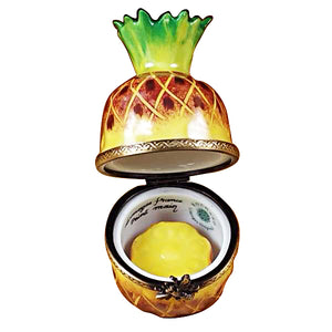 "Rochard ""Pineapple with Slice"" Limoges Box"