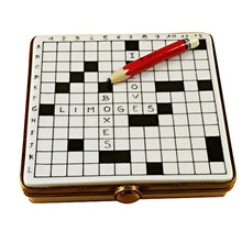 "Load image into Gallery viewer, Rochard ""Crossword Puzzle"" Limoges Box"