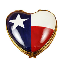 "Load image into Gallery viewer, Rochard ""Heart - Texas Flag"" Limoges Box"