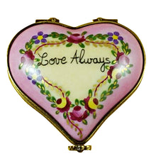 "Load image into Gallery viewer, Rochard ""Heart - Love Always"" Limoges Box"
