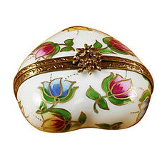 "Load image into Gallery viewer, Rochard ""Heart - Tulips"" Limoges Box"