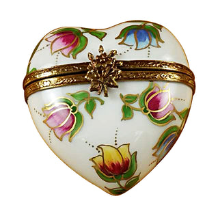 "Rochard ""Heart - Tulips"" Limoges Box"