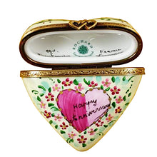 "Load image into Gallery viewer, Rochard ""Heart - Happy Anniversary"" Limoges Box"
