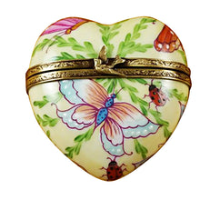 "Load image into Gallery viewer, Rochard ""Butterfly Heart"" Limoges Box"