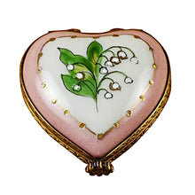 "Load image into Gallery viewer, Rochard ""Mini Heart Lily of the Valley"" Limoges Box"