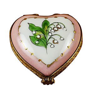"Rochard ""Mini Heart Lily of the Valley"" Limoges Box"