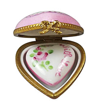 "Load image into Gallery viewer, Rochard ""Small Pink Heart with Heart"" Limoges Box"