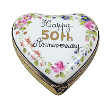 "Load image into Gallery viewer, Rochard ""50th Anniversary Heart"" Limoges Box"