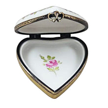 "Load image into Gallery viewer, Rochard ""Happy Anniversary Heart"" Limoges Box"