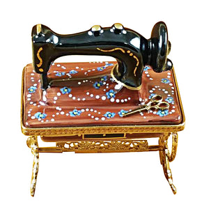 "Rochard ""Sewing Machine on Stand"" Limoges Box"