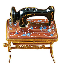 "Load image into Gallery viewer, Rochard ""Sewing Machine on Stand"" Limoges Box"