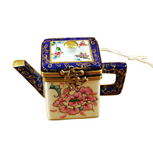 "Load image into Gallery viewer, Rochard ""Square Teapot with Blue Spout & Handle"" Limoges Box"