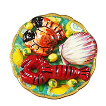"Load image into Gallery viewer, Rochard ""Seafood Platter"" Limoges Box"