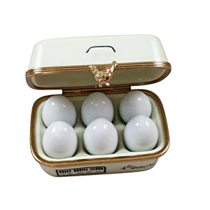 "Rochard ""Eggs in Carton"" Limoges Box"