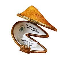 "Load image into Gallery viewer, Rochard ""Fortune Cookie with Removable Fortune"" Limoges Box"