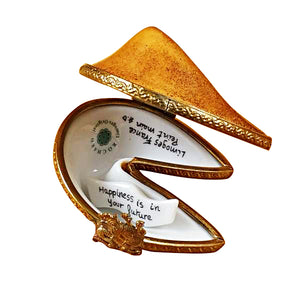 "Rochard ""Fortune Cookie with Removable Fortune"" Limoges Box"