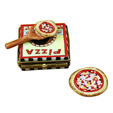 "Load image into Gallery viewer, Rochard ""Pizza box with Pizza"" Limoges Box"