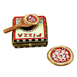 "Rochard ""Pizza box with Pizza"" Limoges Box"