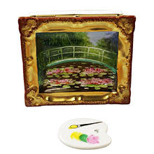 "Load image into Gallery viewer, Rochard ""Framed Monet Japanese Footbridge with Removable Pallette"" Limoges Box"