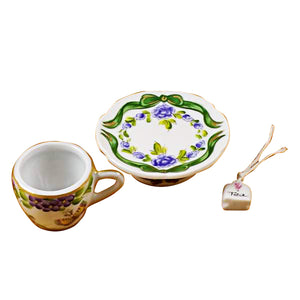 "Rochard ""Cup & Saucer - Butterfly"" Limoges Box"