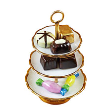 "Load image into Gallery viewer, Rochard ""Sweet Tray with Nine Removable Candies"" Limoges Box"