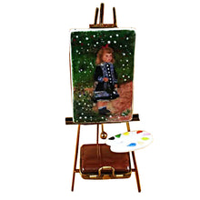 "Load image into Gallery viewer, Rochard ""Easel Renoir: A Girl with Watering Can"" Limoges Box"